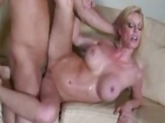 Busty MILF Pays Her Bill With Her Pussy