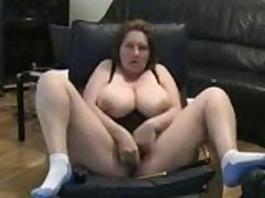 Self Recorded Mature Slut Masturbating