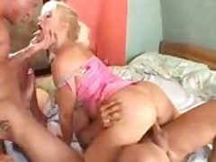 Blonde MILF Takes A Double-Vagina Dipping