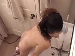 Quick Masturbation In The Bathroom