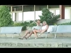 He Fucks The Girlfriend Outdoor