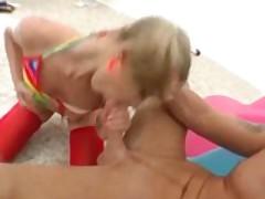 Blonde Slut Gets Her Ass Stretched