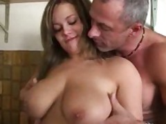 German Pussy Fucking In Kitchen