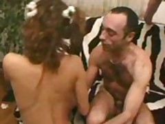 French Maid Cleans A Lot Of Cock