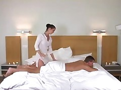 Massage slut gets hers