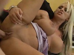 Sex with hot busty blonde