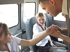 School Bus Girls Madison Tabitha