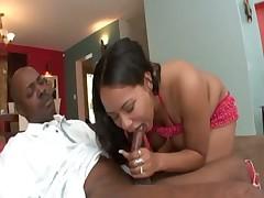 Black slut is a mega hot cocksucker