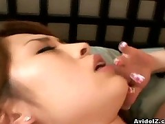 Kinky japanese babe in hot lingerie fuck closeup