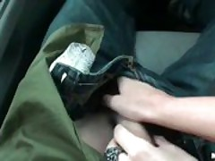 My GF sucked my dick on the road