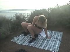 Masturbate on a Malibu beach