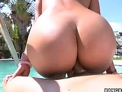 Rachel Starr Suckin Dick & Fuckin Poolside