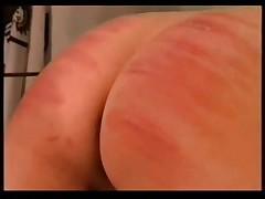 Skinny girl spanking