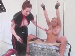 Sexy lesbian love BDSM