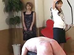 Asian girl punish her husband