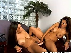Two gorgeous lesbian goddesses get naughty fucked