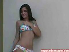 Bikini Babe Posing Tight Body