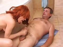Couple fuck in bathroom