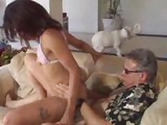 Old Dude Fucks Fresh Pussy