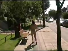 Midget walking naked on streets