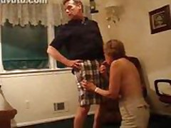 Hot MILF Blows Husbands Dick