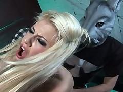 Anal Blonde Fucks Fetish Freaks