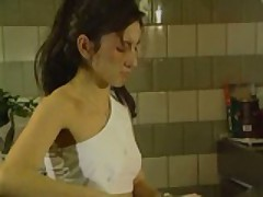 Awesome Teen Cook.. Takes Cock