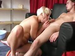 Hot Ass MILF blows fresh cock
