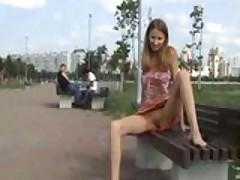 Russian Babe Public Exposure