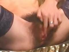 Big dildo penetrates french girls fury bush