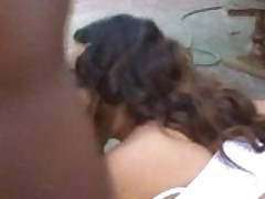Interracial Blowjob For Black Giant