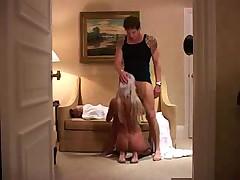 Fiance having fun in hotel
