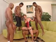 Haylee gets four big meatsticks in all holes