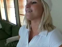 Amateur next door blonde chick fucked for money