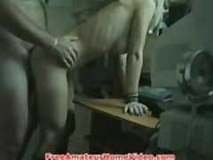 She's too horny to wait after work!