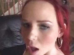 Naughty redhead Candi Summers spankin hot anal!