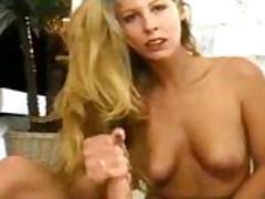 Sexy Blonde Footjob