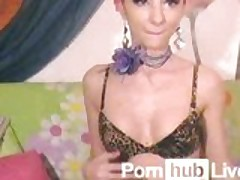 Devil_girl From Pornhublive Fucks a Dildo