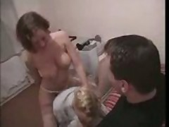 Lucky guy two girl blowjob