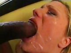 Blond slut gets ass fucked by black stud