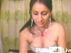 Indian camgirl with her dildo