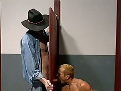 Gay glory hole sex with hot men