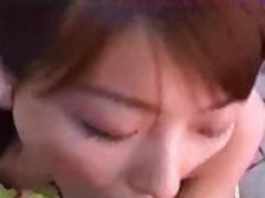 Asian blowjob and threesome