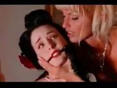 Gorgeous lesbian teased & bound