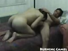 Horny asian chick takes control