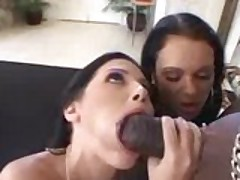 Feisty Victoria and Rebecca take Mr Steel in on all occasions hole