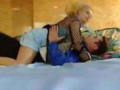 Busty Anne Sophia gets fucked on silk sheets