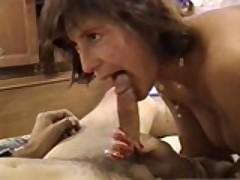 Amateur milf gives a great blowjob