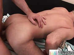 Adam Russo gets hairy anus fucked part1