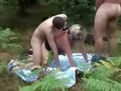 Foursome's frolic in the forest